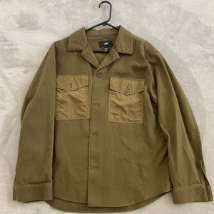 H&M olive green button down